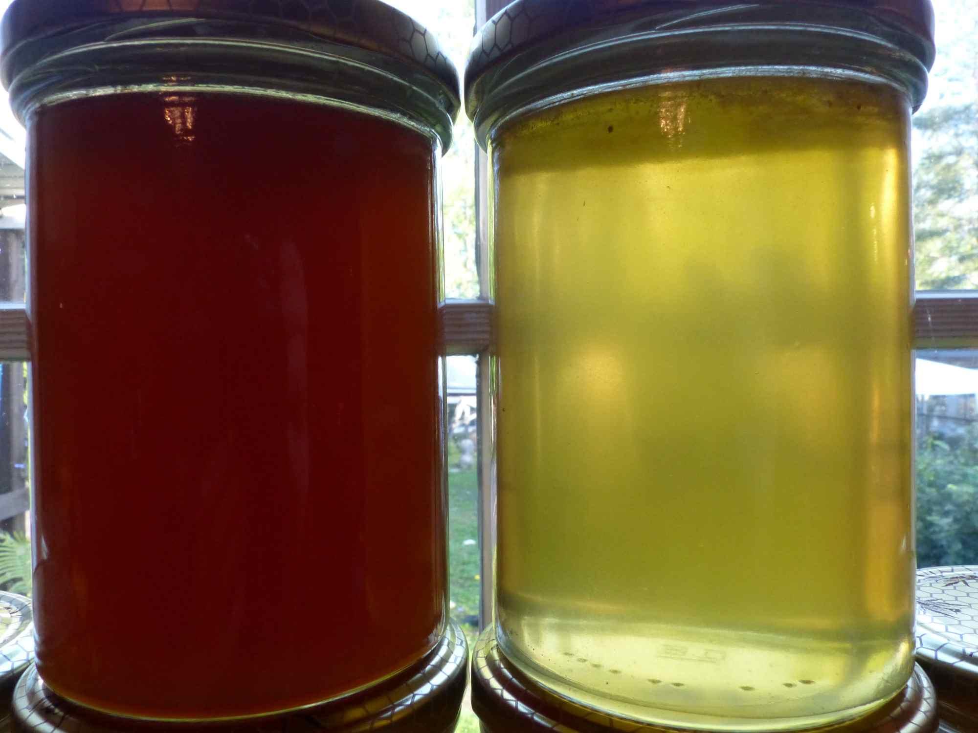 Hunajissa on eroa: tummaa ja vaaleaa